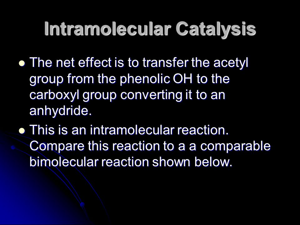 The net effect is to transfer the acetyl group from the phenolic OH to the carboxyl group converting it to an anhydride. The net effect is to transfer