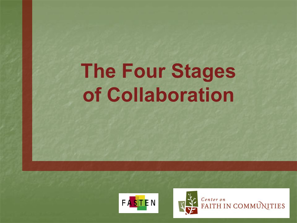 The Four Stages of Collaboration
