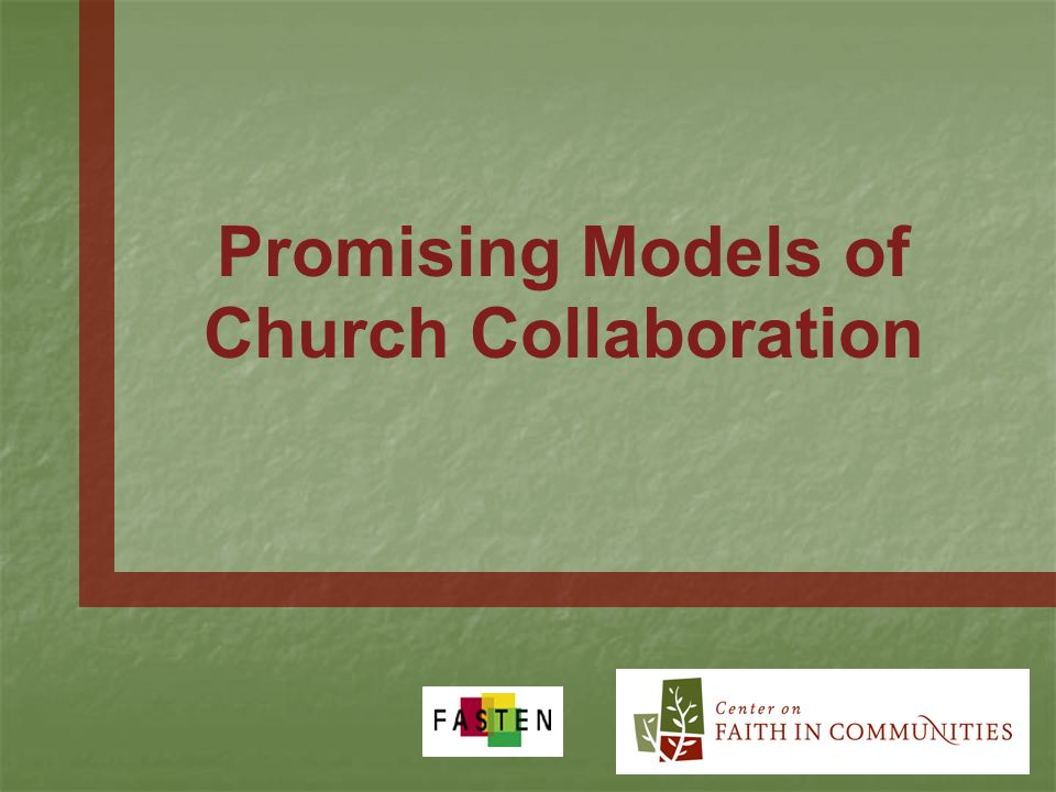 Promising Models of Church Collaboration