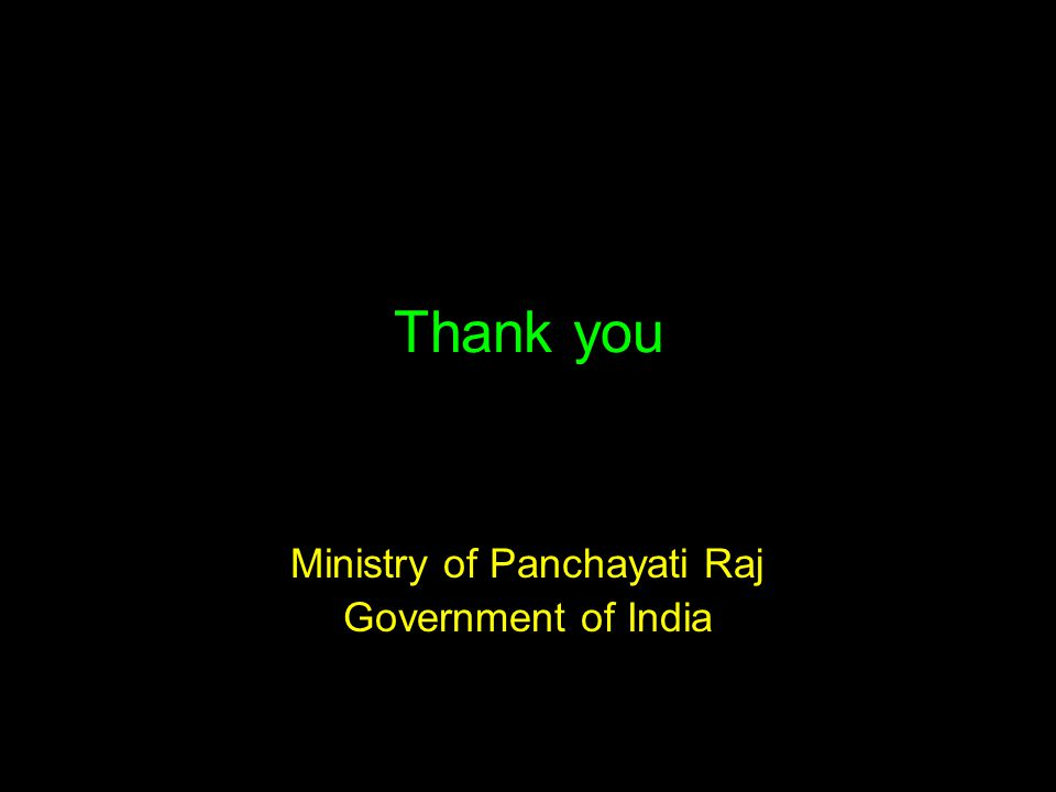 Thank you Ministry of Panchayati Raj Government of India
