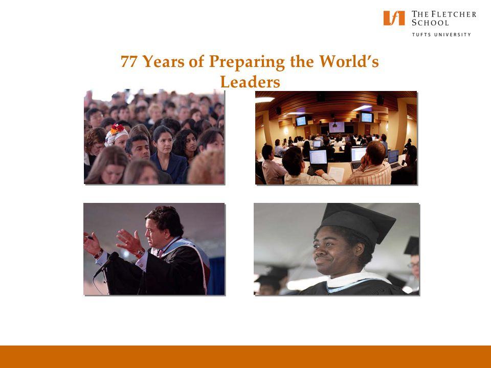 77 Years of Preparing the World's Leaders