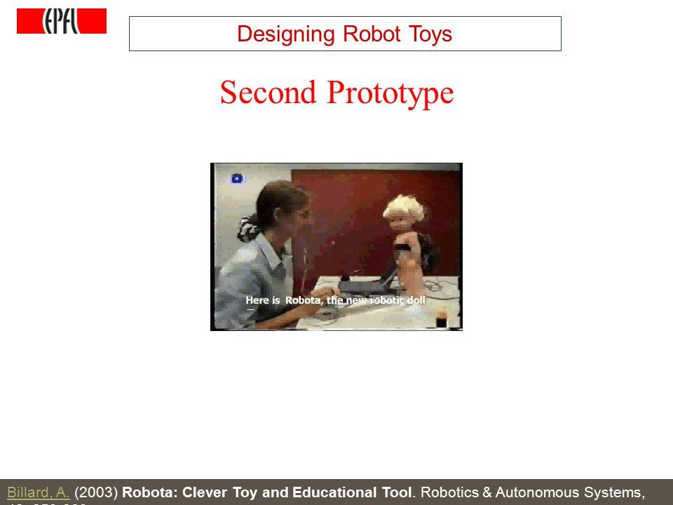 http://lasa.epfl.ch A.G. Billard, Autonomous Robots Class Spring 2007 Second Prototype Billard, A.Billard, A. (2003) Robota: Clever Toy and Educationa