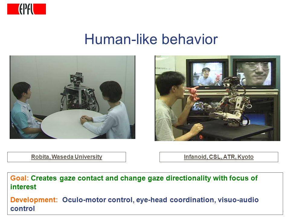 http://lasa.epfl.ch A.G. Billard, Autonomous Robots Class Spring 2007 Goal: Creates gaze contact and change gaze directionality with focus of interest