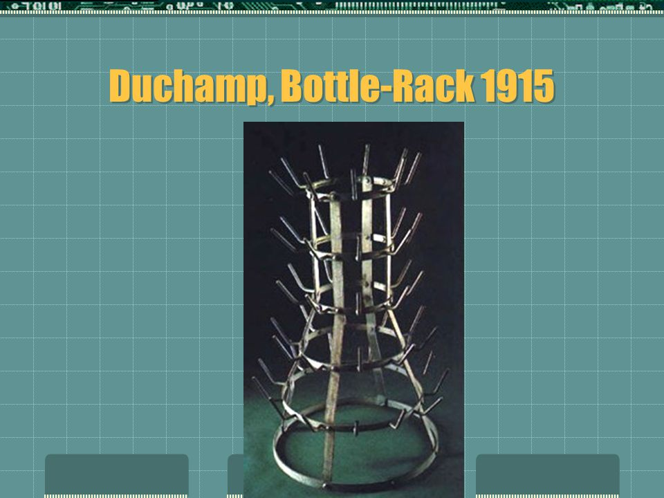 Duchamp, Bottle-Rack 1915