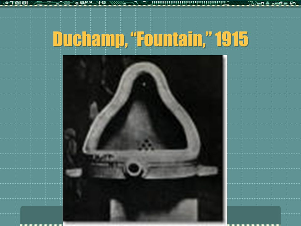 "Duchamp, ""Fountain,"" 1915"