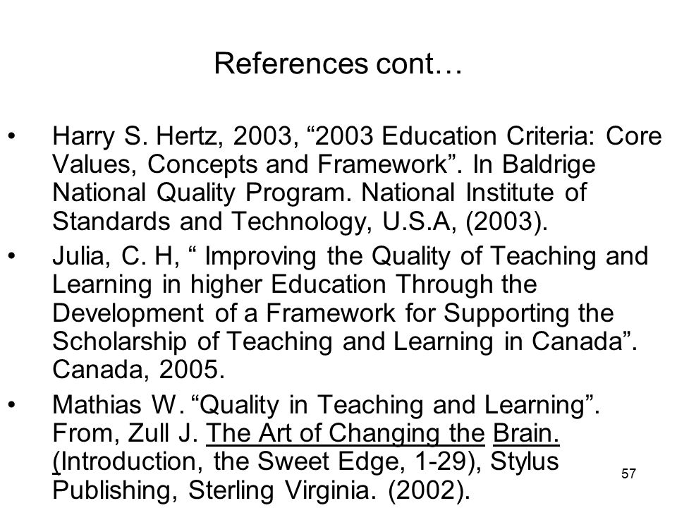 57 References cont… Harry S.