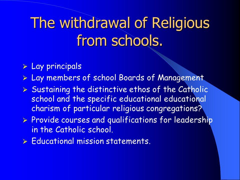 Ethos & Staffing Principal Religious Educator Chaplain Ethos