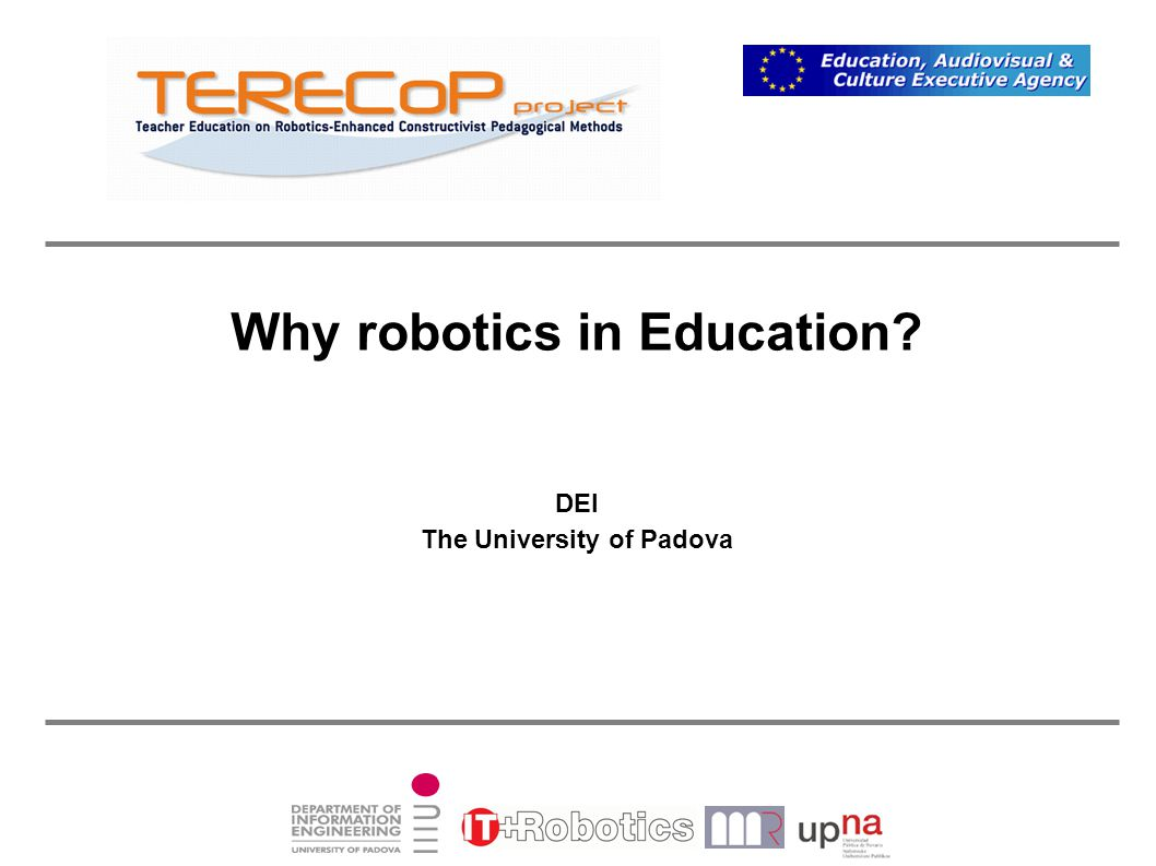Why robotics in Education? A Picture Is Worth A Thousand Words