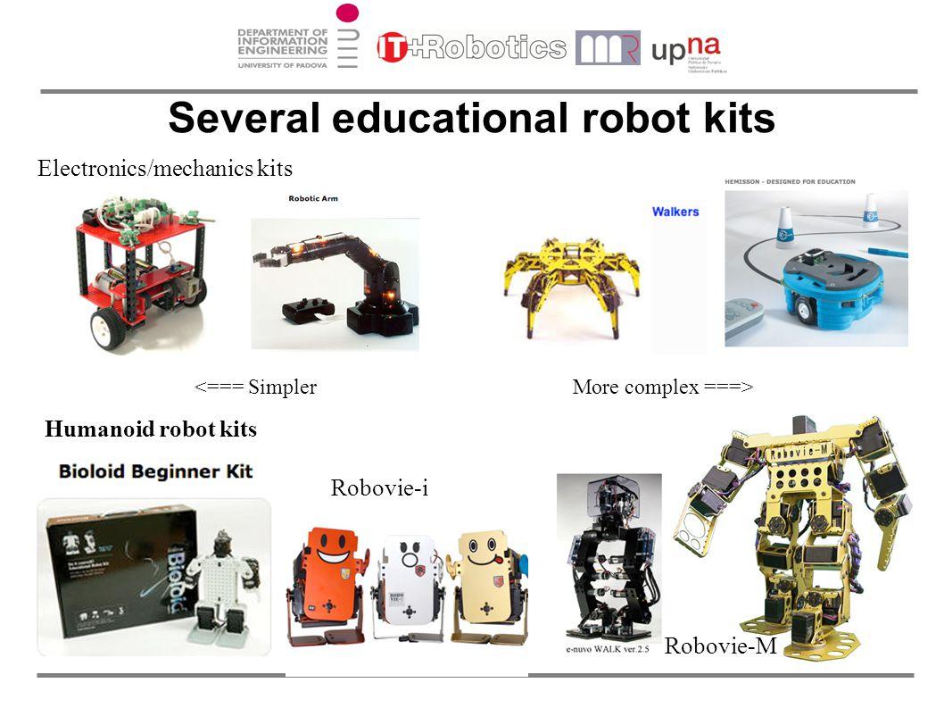 Several educational robot kits Robovie-i Robovie-M Electronics/mechanics kits Humanoid robot kits