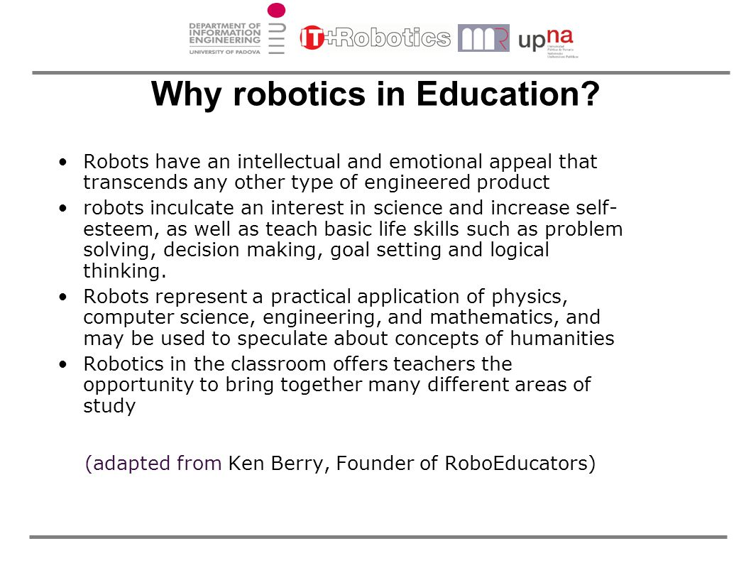 Why robotics in Education.