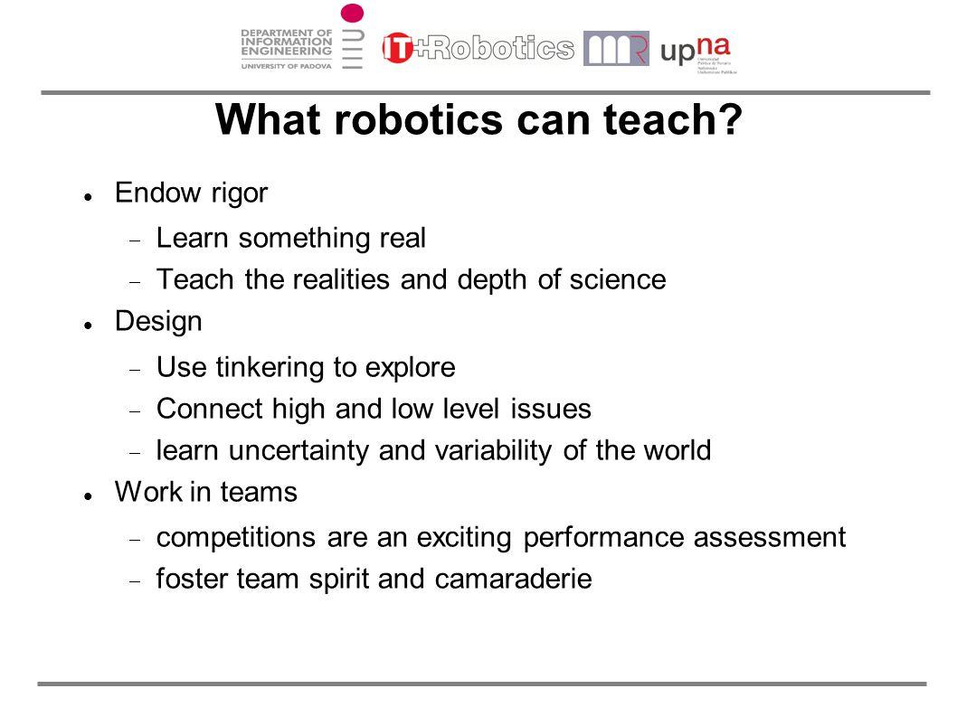 What robotics can teach.
