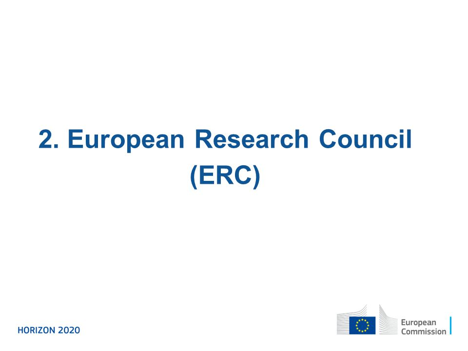 2. European Research Council (ERC)