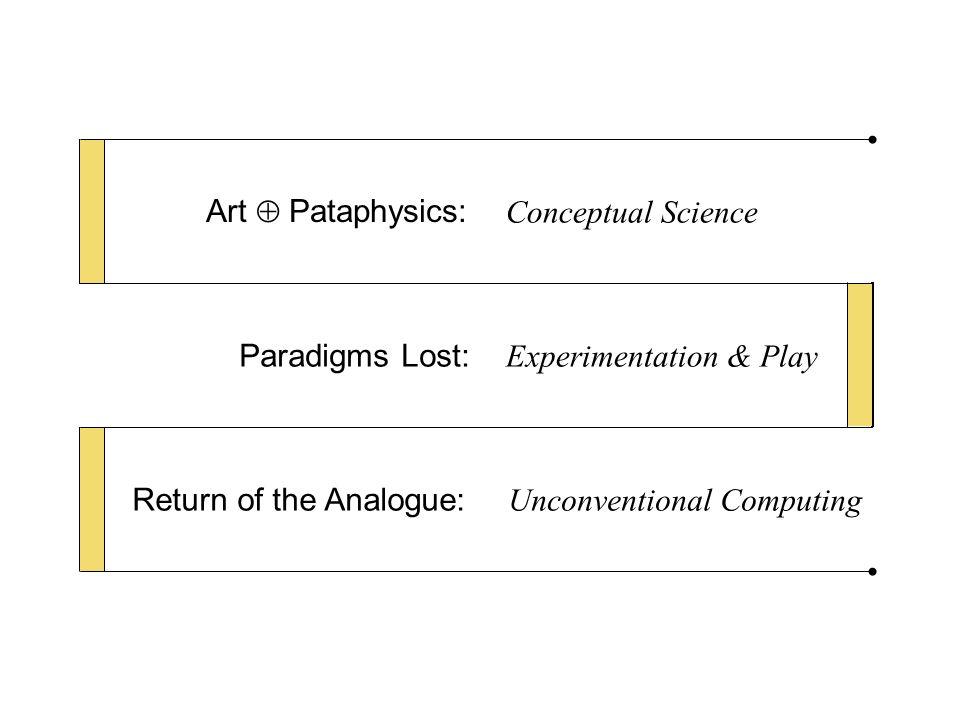 Joseph Beuys (1921-1986) Duchamp (1887-1968) Pataphysics (Jarry 1873-1907) Conceptual Science Art  Pataphysics: