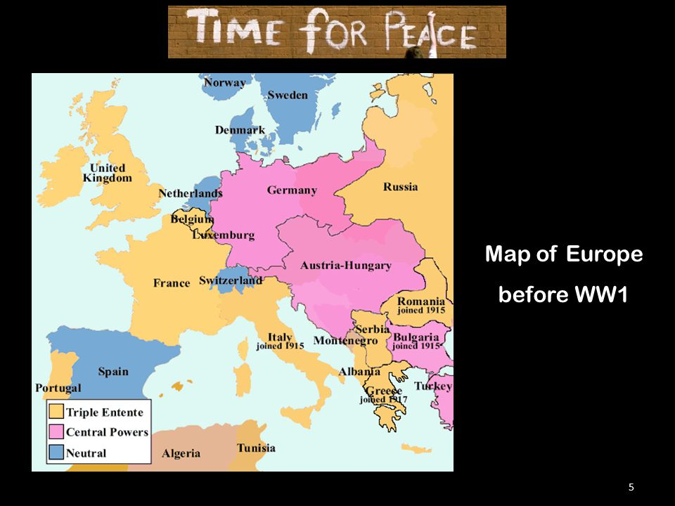 5 Map of Europe before WW1