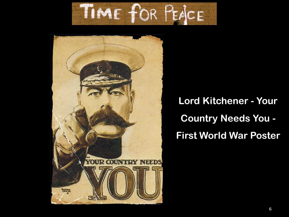 6 Lord Kitchener - Your Country Needs You - First World War Poster