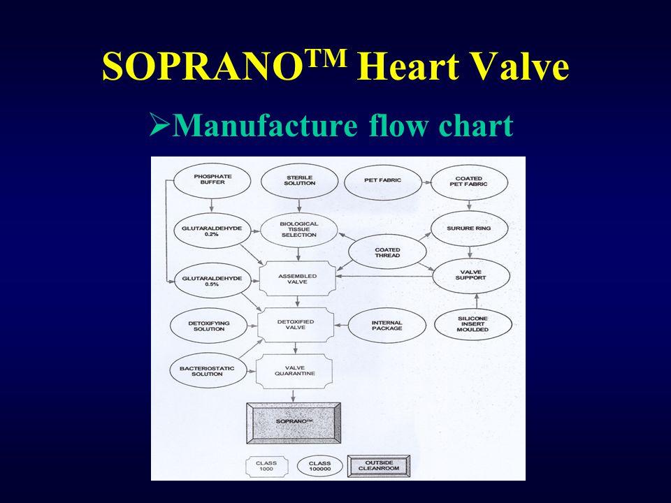 SOPRANO TM Heart Valve  Manufacture flow chart