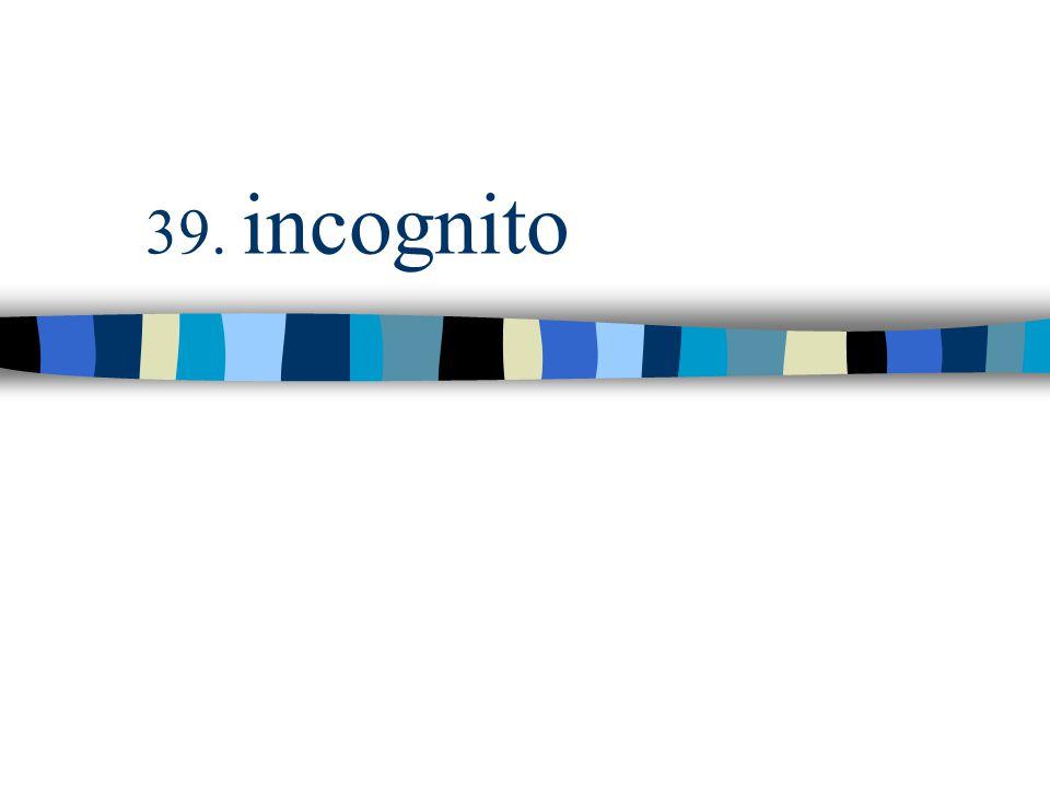 39. incognito