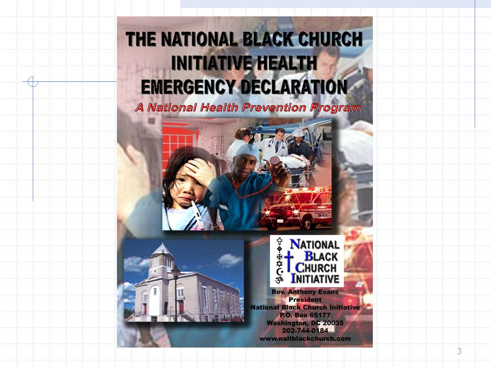 NBCI Health Emergency Declaration (HED) The National Black Church Initiative is declaring a national health emergency in the Black Church due to the chronic health condition of African Americans and its horrible health statistical composition.