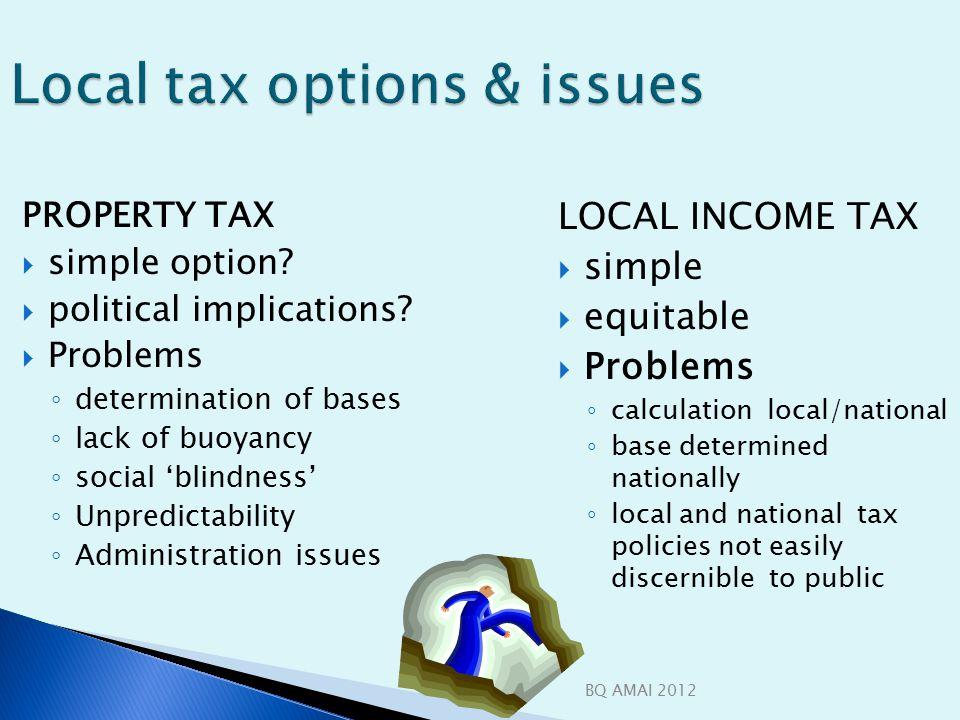 BQ AMAI 2012 Local tax options & issues PROPERTY TAX  simple option.