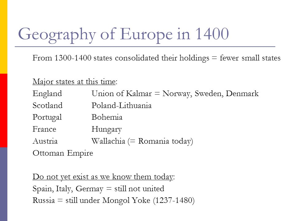 Europe in 1400