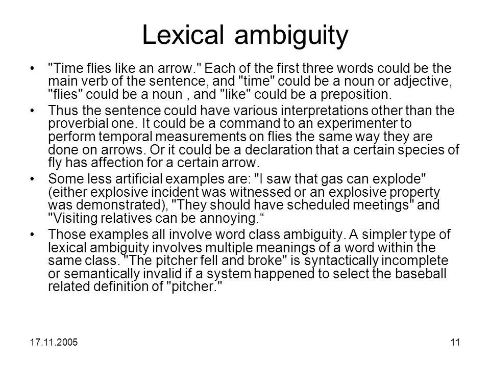 17.11.200511 Lexical ambiguity