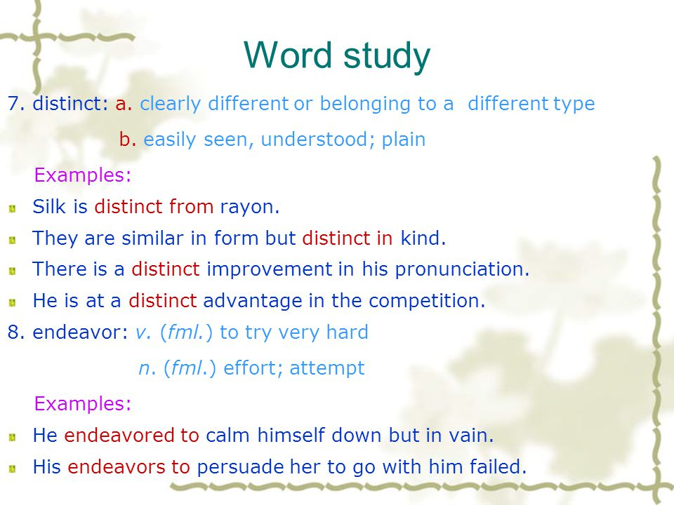 Word study 5. contribute: v. a. to join with others in giving help, money… b. to help to cause or produce Examples: contribute food and clothing for t