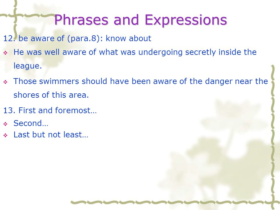 Phrases and Expressions 11.