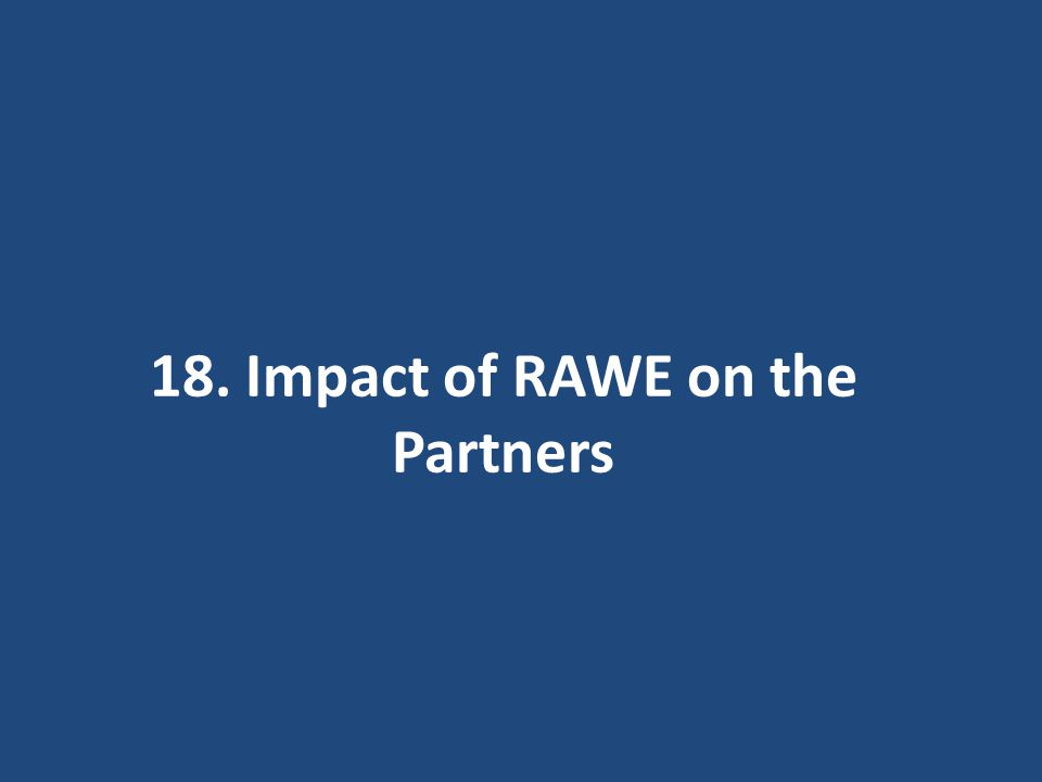 18. Impact of RAWE on the Partners