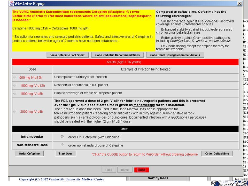 Copyright (C) 2002 Vanderbilt University Medical Center