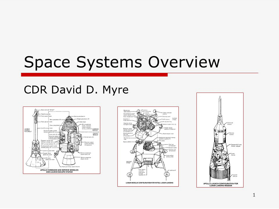 2 What is a Space System.