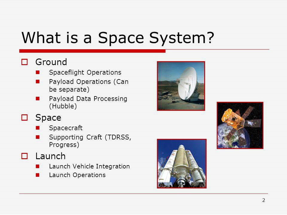 3 Tracking and Data Relay Satellite System http://nmsp.gsfc.nasa.gov/tdrss/oview.html
