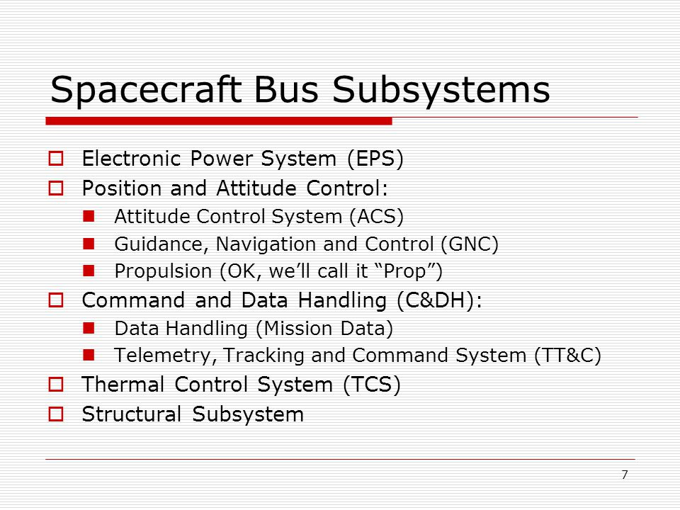 28 Review  Discussed the Segments of a space system: Ground, Space and Launch  Introduced major subsystems of typical spacecraft  Introduced the concept of systems engineering  Discussed Integration and Test of Spacecraft