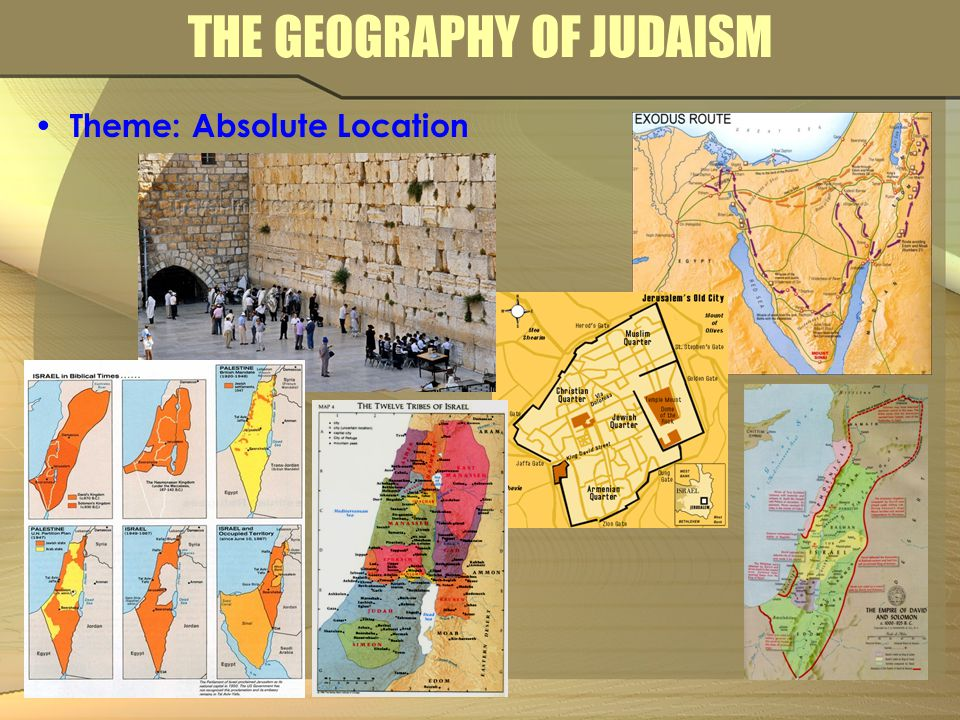 THE GEOGRAPHY OF JUDAISM Theme: Absolute Location