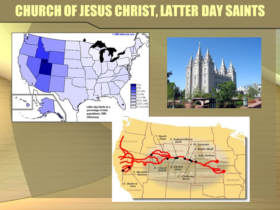 CHURCH OF JESUS CHRIST, LATTER DAY SAINTS