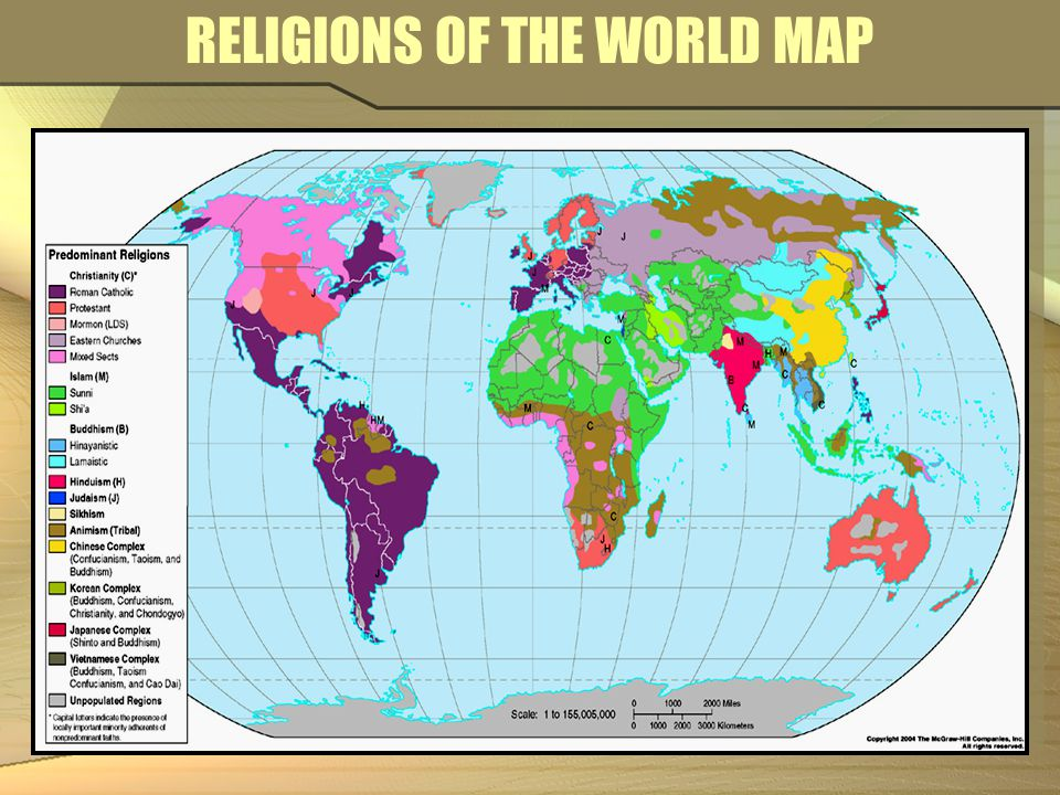 REGIONS DETERMINED BY RELIGION