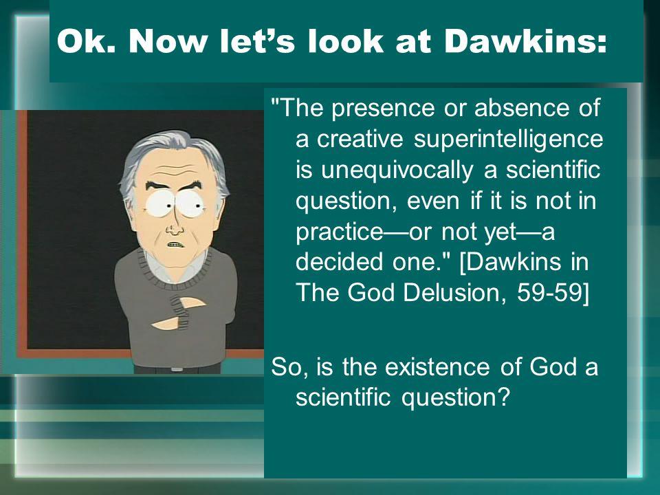 Ok. Now let's look at Dawkins: