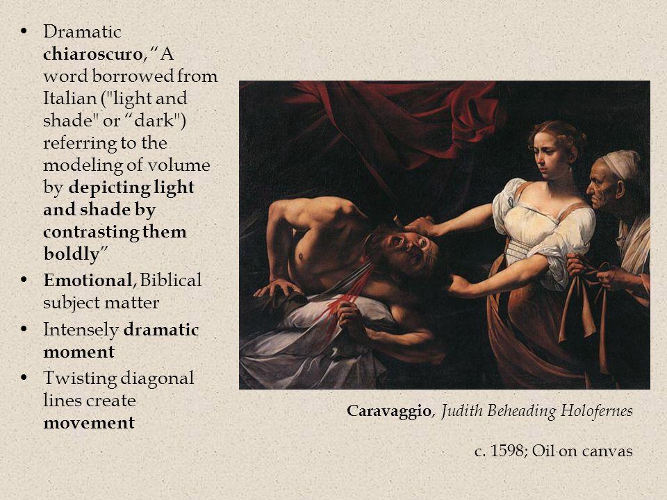 Caravaggio, Judith Beheading Holofernes c.