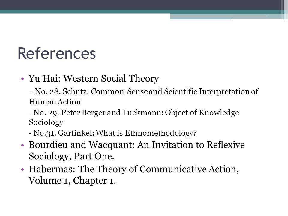 References Yu Hai: Western Social Theory - No.28.