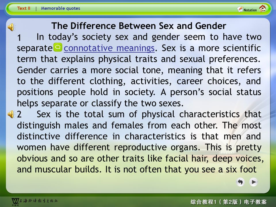 Lead-in questions 1. According to you, what are the gender differences between male and female? 2. What are the causes of those differences? Lead-in q