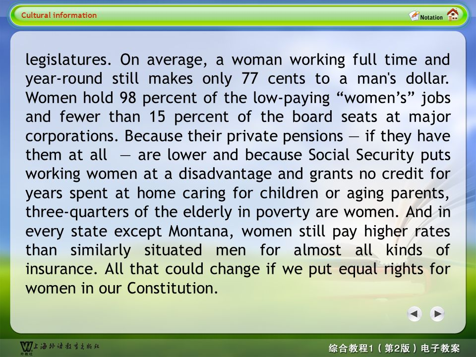 1. Why We Need an Equal Rights Amendment: Why We Need an ERA; The Gender Gap Runs Deep in American Law Cultural information Cultural information 1 Cul