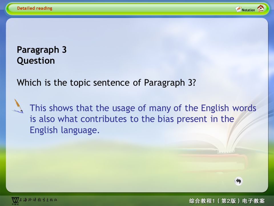 Paragraph 2 Question What is the main idea of Paragraph 2? Detailed reading2— Quesion1 Paragraph 2 explains and illustrates the fact that some words i