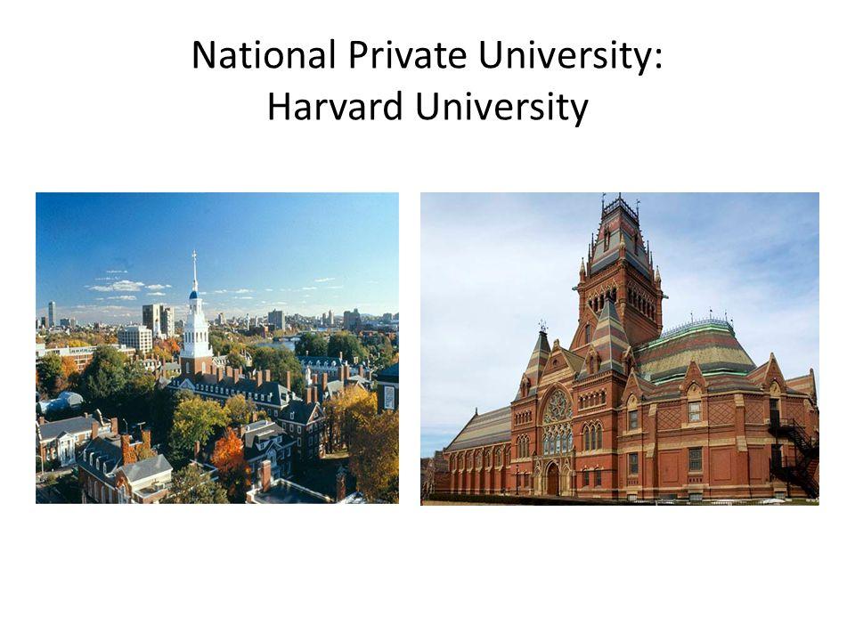 National Private University: Harvard University