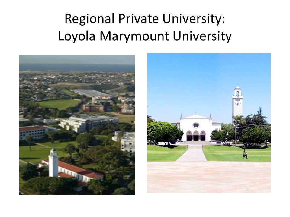 Regional Private University: Loyola Marymount University