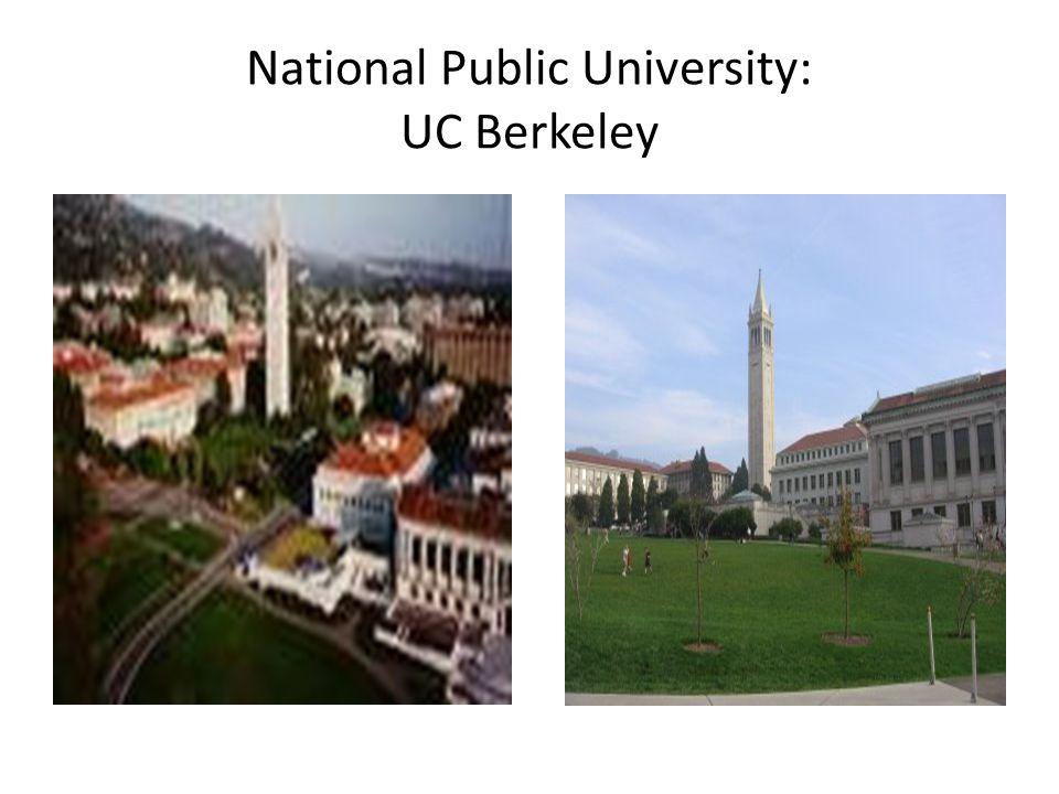 National Public University: UC Berkeley