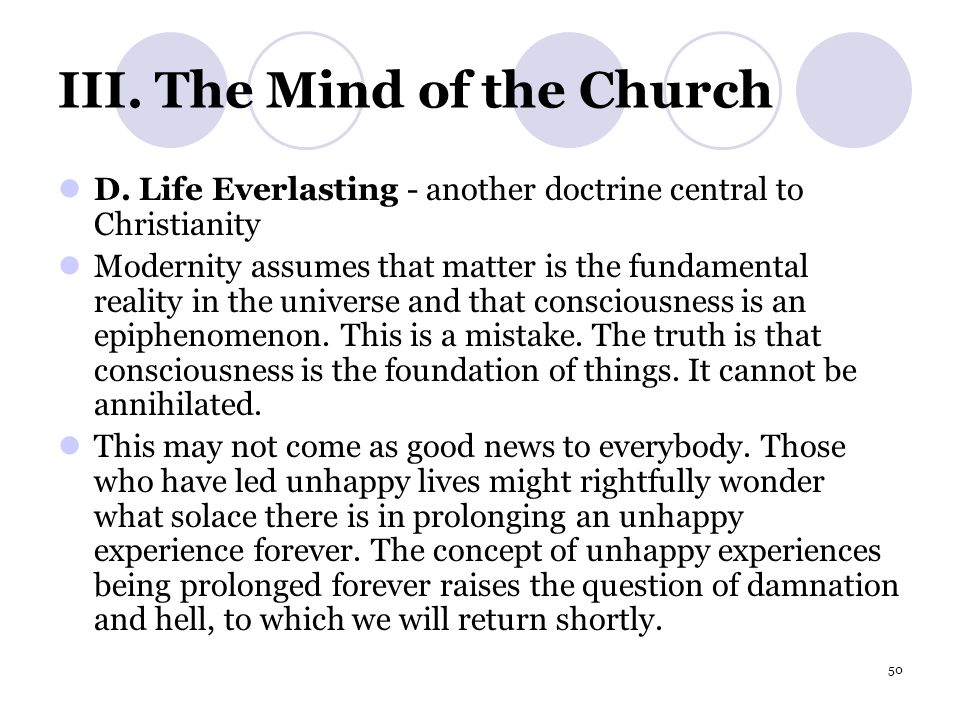 50 III.The Mind of the Church D.