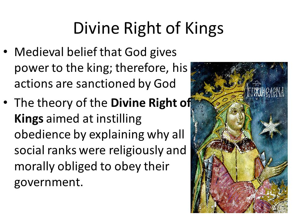 Absolutism and Divine Right Divine right theory was a branch of absolutism Most divine right theorists thought that monarchy was the best form of government and that monarchs should never be resisted by the people.