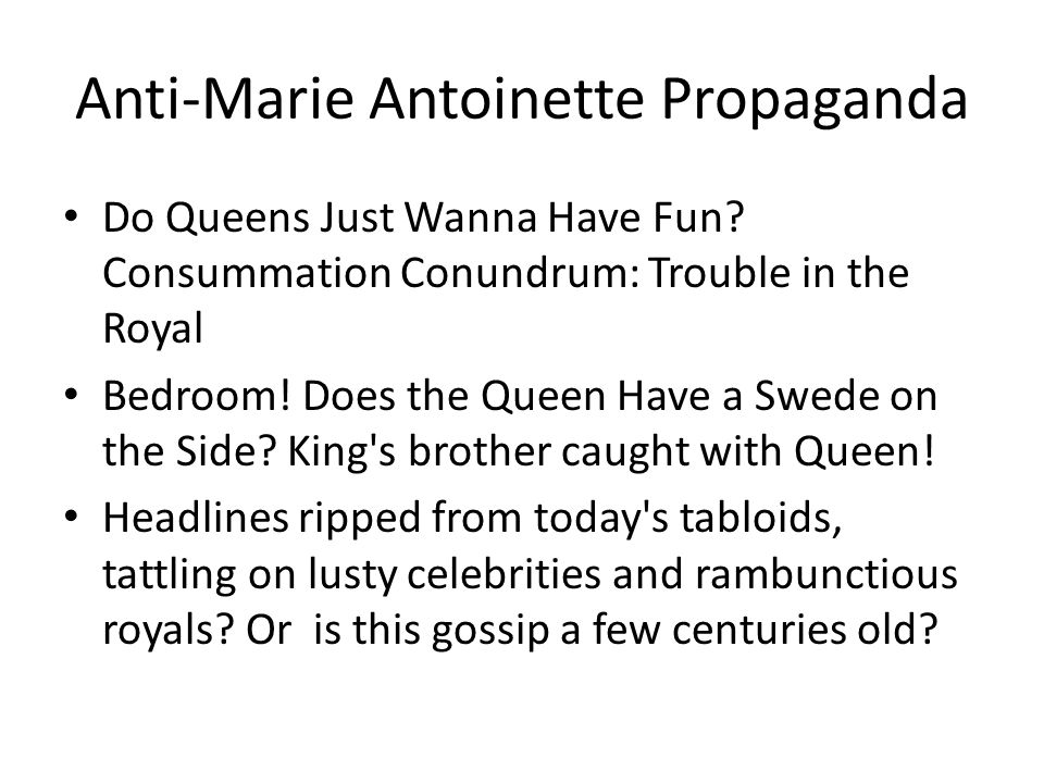 Problems with Marie Antoinette---Her Marital Affairs Antoinette had many lovers outside her marriage.