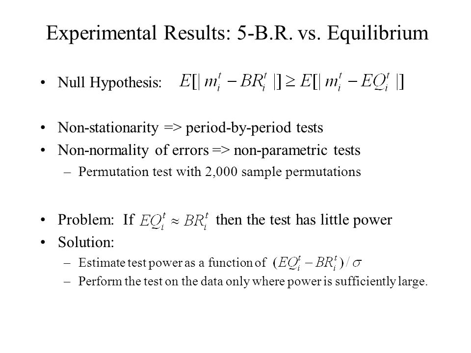 Experimental Results: 5-B.R. vs.