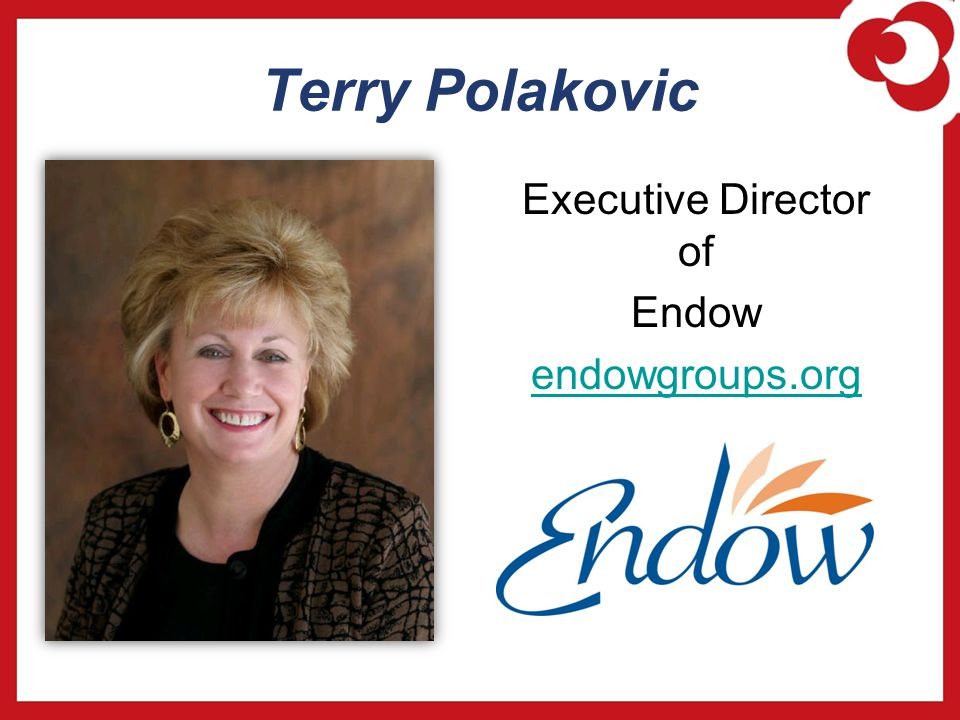 Terry Polakovic Executive Director of Endow endowgroups.org