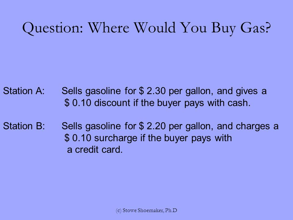 Question: Where Would You Buy Gas.